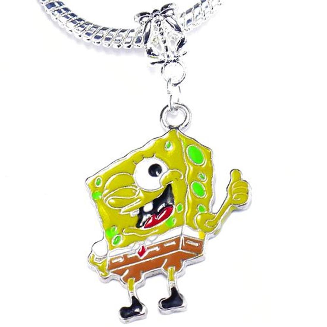 Charm Buddy Bob l'Eponge Pendentif charm pour Charm Bracelets pour femmes filles Bijoux Enfants Charm Buddy ® CBY: /#845