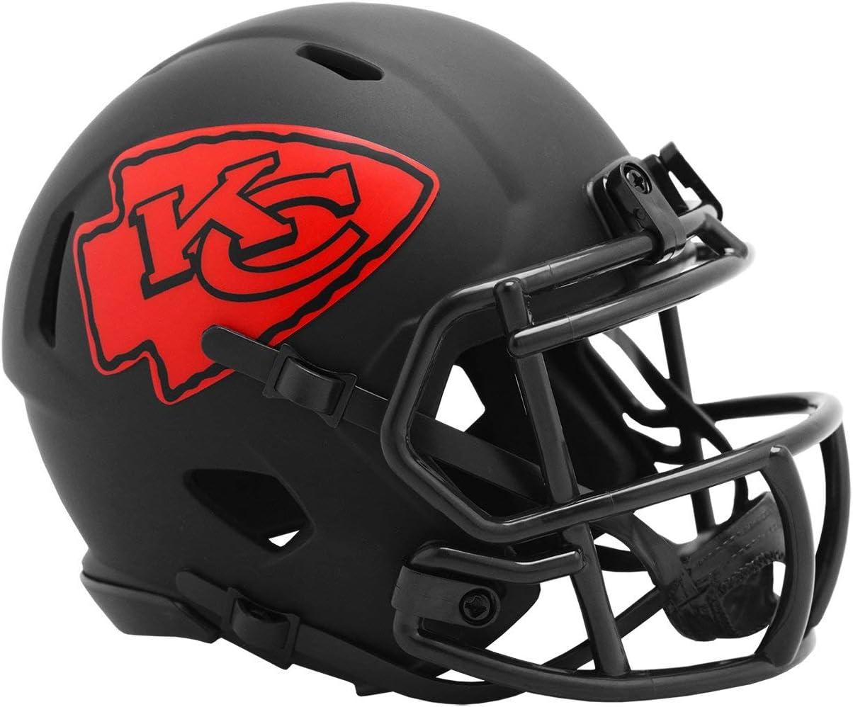 Riddell Kansas City Chiefs 2020 Black Revolution Speed Mini Football Helmet : Sports & Outdoors