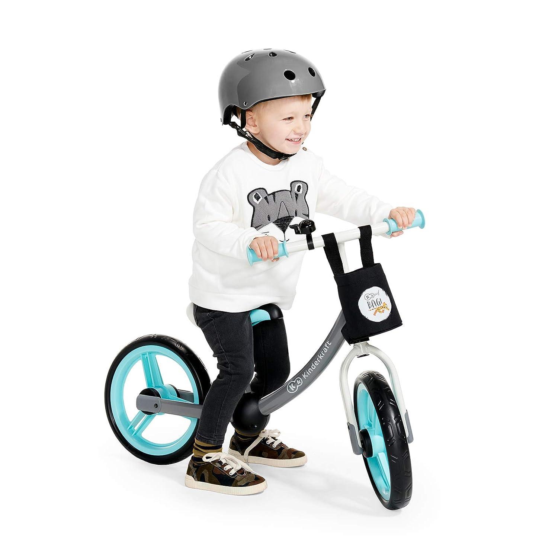 Rosa fino a 35 kg Kinderkraft Bicicletta 2WAY NEXT Bici Balance Bike Senza Pedali 12 Pollici Ruote Telaio in Acciaio con Accessori Campana Borsa Per bambino da 3 anni
