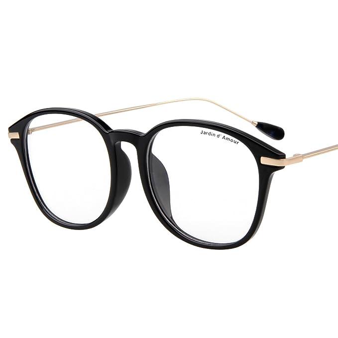bd401e549fd Jardin D amour Vintage Optical Glasses Eyewear Eyeglasses Frame with Clear  Lenses JA7204 BK