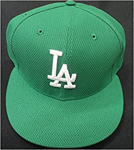 Los Angeles Dodgers On Field Baseball Cap Hat St. Patricks Day Green Size 7 3/4