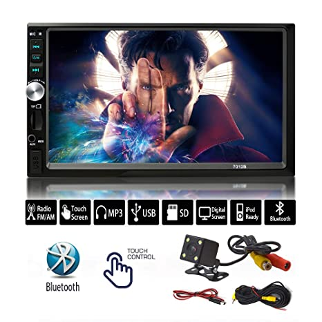amazon com 7 inch stereo touch screen double din radio withamazon com 7 inch stereo touch screen double din radio with bluetooth unplug car electronics