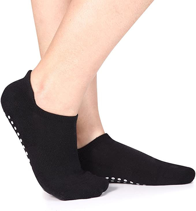 1pair Half Toe Ankle Non Slip Grip Workout Dance Yoga Pilates Socks LA