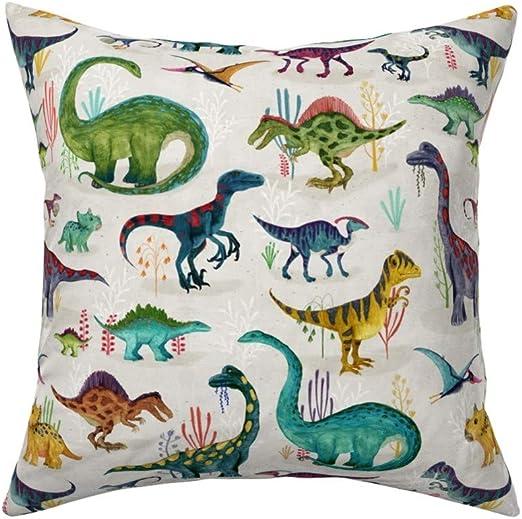 Prehistoric Jurassic Baby Dinosaurs Cotton Linen Look Fabric