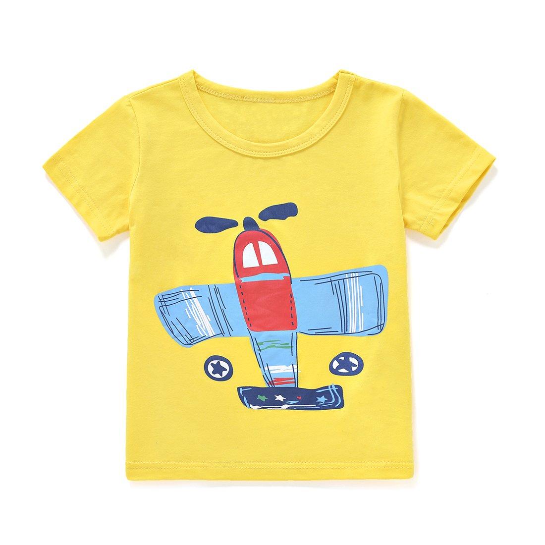 1d016f00a00c Amazon.com  ChicNChic Baby Boys Short Sleeve T-Shirts Shorts Set 2pcs  Cartoon Plane Summer Outfits Clothing  Clothing