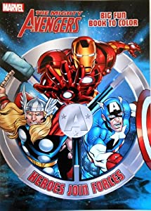 marvel avengers coloring book heroes join forces big fun book to color - Avengers Coloring Book