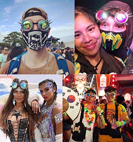 Gafas Morado de Festival facetadas Gafas facetadaspaseo de mosaico Gafas sol de Paseo caleidoscopio Gafas de Música sol de Tw8FqzS