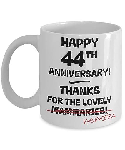 Amazon 44th Wedding Anniversary Gift Mug For Her Novelty Idea