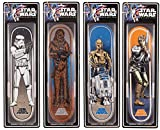 Star Wars Skateboard Deck Collectible 4 PACK Luke Stormtrooper Chewbacca Droids