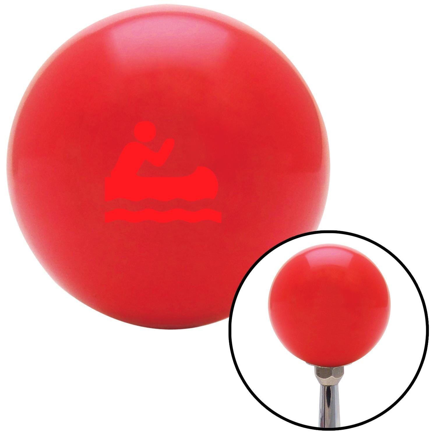 American Shifter 95628 Red Shift Knob with M16 x 1.5 Insert Red Guy Paddling Canoe