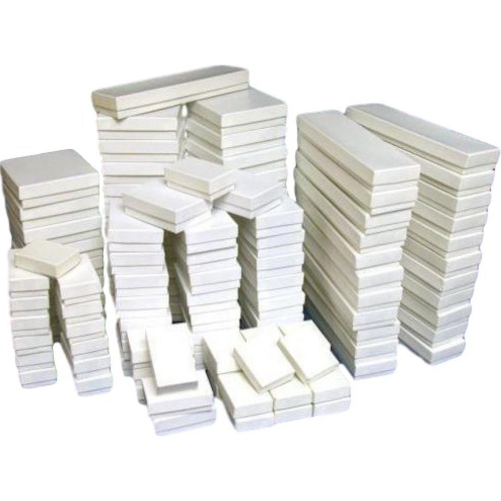 250 White Jewelry Display Cotton Boxes Gift Box Set