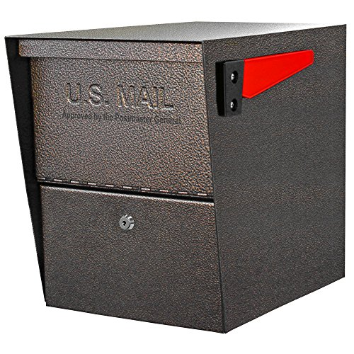 - Mail Boss 7208 Package Master Curbside Locking Security Mailbox, Bronze