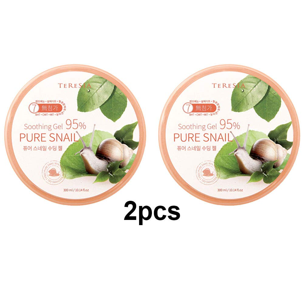 Pure Snail Soothing Gel, Keeping Skin Smooth and Soft, 300ml(10.1oz) x 2Pcs