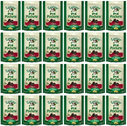 Greenies Hickory Smoke Dog Pill Pockets for Capsules 11.9Lbs(24x7.9oz)
