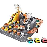 Race Tracks voor jongens auto avontuur speelgoed voor 3-8 jaar oude meisjes, stad redding race tracks kleuterschool…