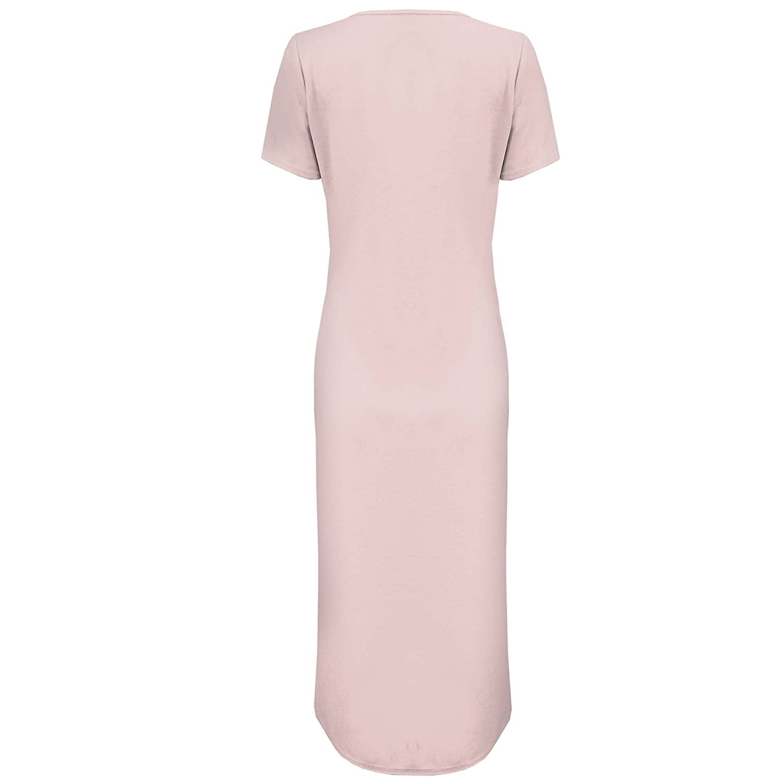 3d00e38bea7 New Ladies High Split Side Slit Long Top Women Midi Dress Maxi Crepe Look  Tunic: Amazon.co.uk: Clothing