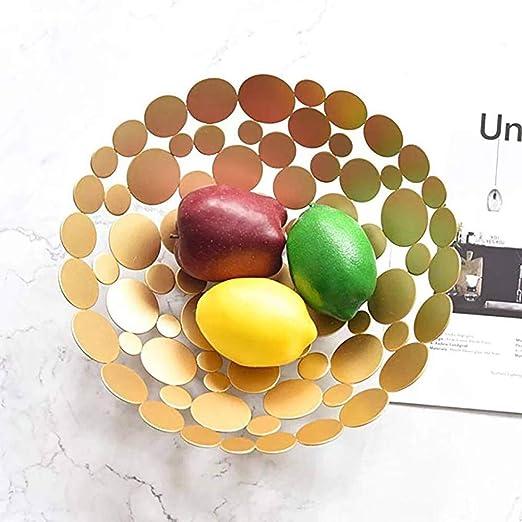 caramelle e altri articoli per la casa pane Scodella per cesto di frutta creativa moderna per banconi da cucina supporto per centrotavola da tavolo decorativo rotondo grande nero per frutta verdura