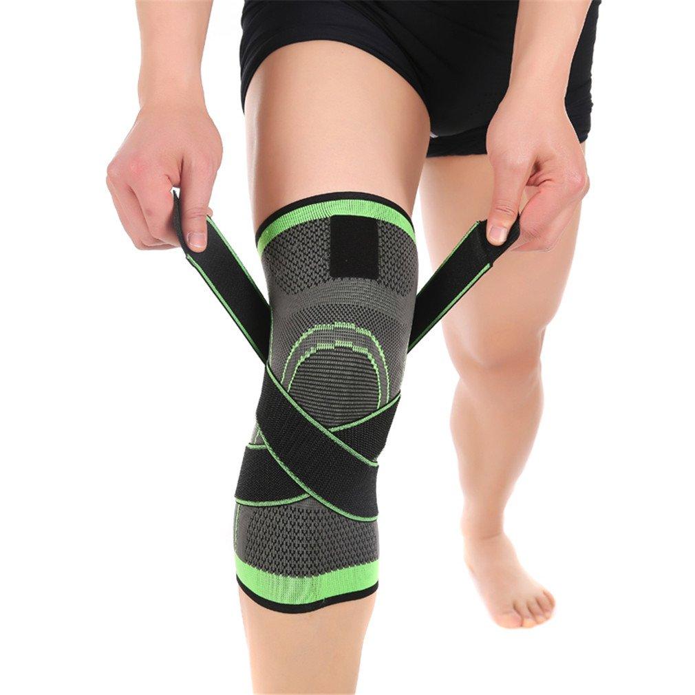 hqgb 1個膝プロテクター膝ブレースサポート膝パッドスポーツRodilleras Joelheira保護用通気性バレーボールバスケットボール B07DGWVPG2  Medium