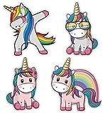 Nourish Cute Unicorns Fridge Magnets