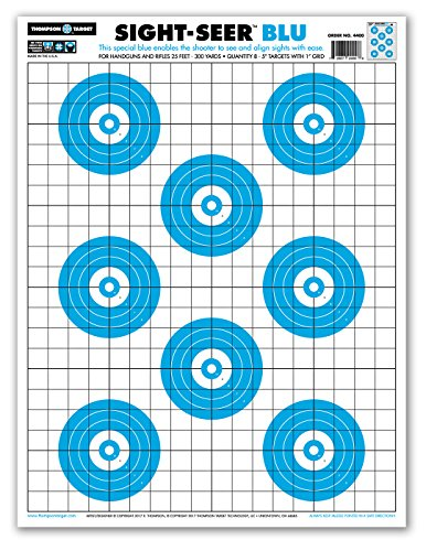 Sight Seer Paper Bullseye Shooting Targets for Pistol & Rifle 19