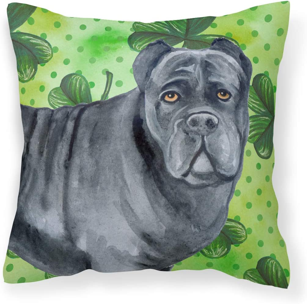 Amazon Com Caroline S Treasures Bb9868pw1414 Cane Corso St Patrick S Fabric Decorative Pillow 14hx14w Multicolor Garden Outdoor