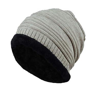 df3a37815a81 Rovinci Unisexe Hommes Femmes Tricoter Casquette Décontractée Chapeau de  Couverture Bonnet Bonnet Hiver Chaud Flou Plissé De Plein air Duveteux Mode  Chapeau ...