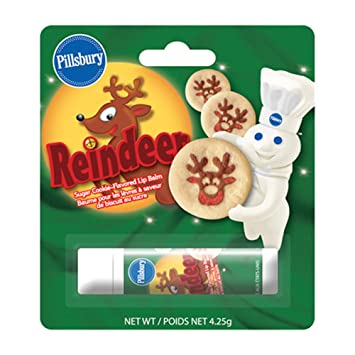 pillsbury christmas reindeer sugar cookie flavored lip balm by boston america