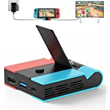 [2021 Upgraded Version] Charging Dock for Nintendo Switch, Knofarm Foldable TV Dock Charging Station with 4K HDMI Adapter and