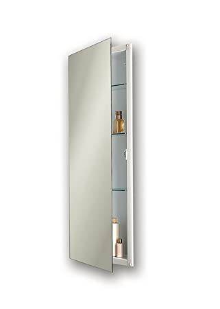 Jensen 663BC Low Profile Narrow Body Medicine Cabinet With Polished Mirror,  15 Inch By