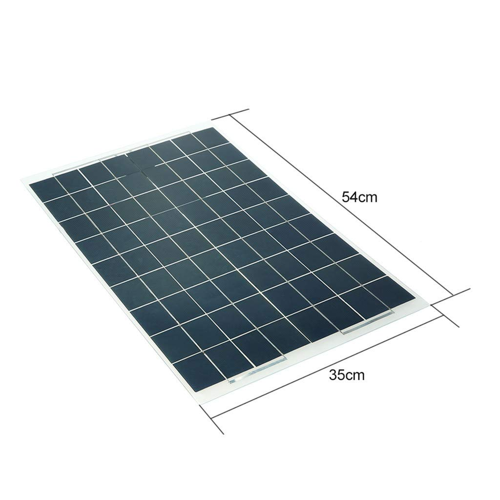 Sonmer Semi Flexible Solar Panel Battery Charger,12V,30W by Sonmer (Image #5)