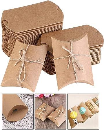 Xinlie Caja del Caramelo de la Regalos de Boda Cajas de Papel Kraft Cartón Vintage Cajas