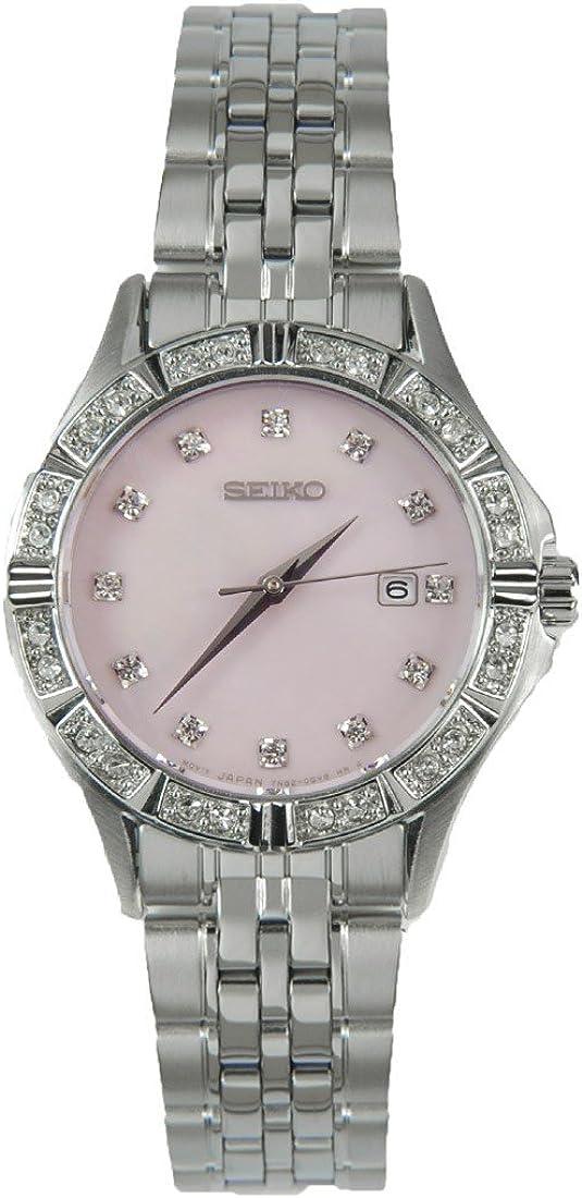 セイコー Seiko Pink Mother of Pearl Dial Stainless Steel Ladies Watch SXDF13 女性 レディース 腕時計 【並行輸入品】