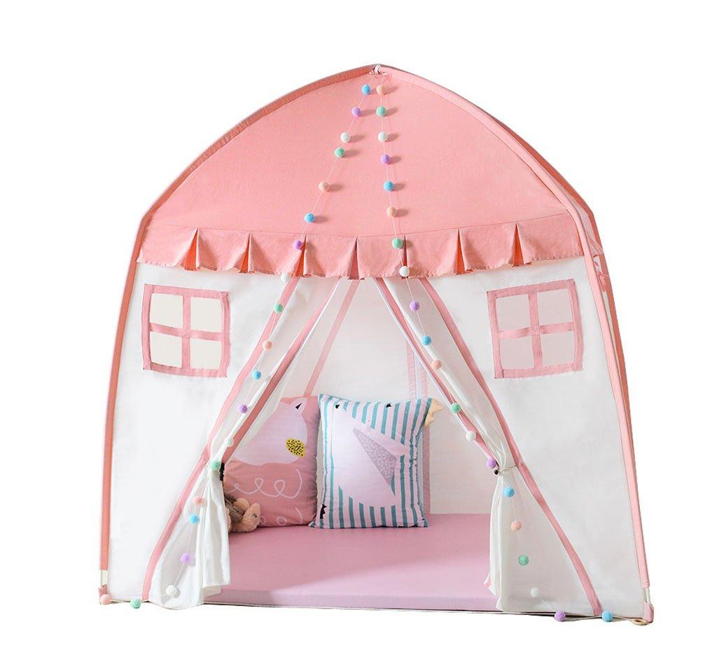 CHANG-dq キャンバステント、子供ピンクラブリー通気性のテントゲームハウス屋内と屋外の小さなテントのおもちゃの部屋読書コーナー150 * 100 * 150CM 家庭用テント (サイズ さいず : 150*100*150CM) 150*100*150CM  B07RW57C4T
