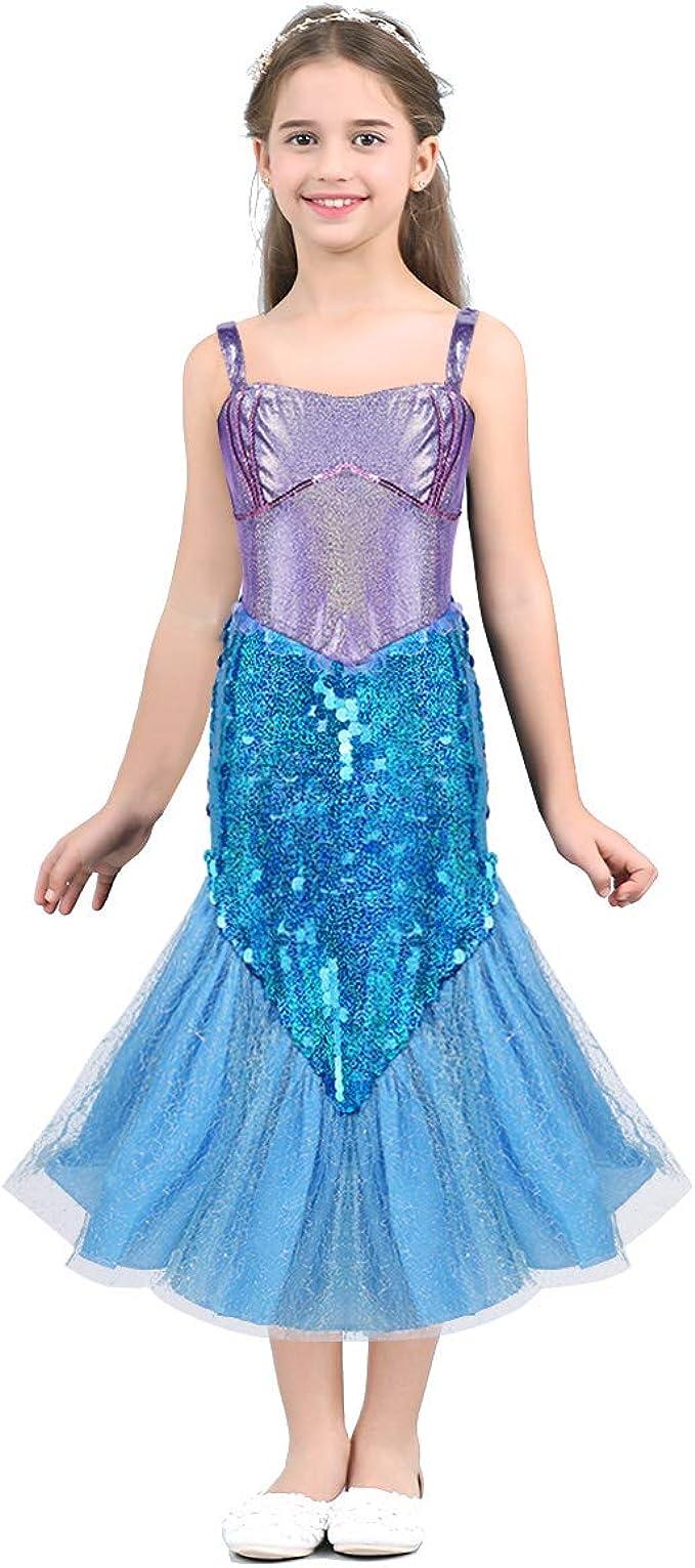 Freebily Disfraz Sirena Niña Halloween Carnaval Cosplay Vestido de ...