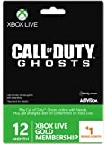 Xbox Live Gold 12-Month Membership Card with 1 Bonus Month - Call of Duty Ghosts Branded (Xbox One/360)