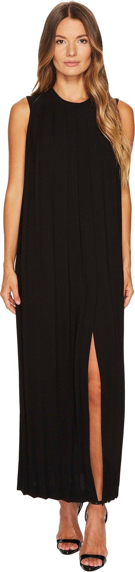 Neil Barrett Women's Sable' + Fine Gabardine Sleeveless Pleated Dress Black Dress