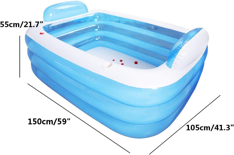YuShi-NH Bañera Plegable Bañera Inflable para Adultos Mantener ...