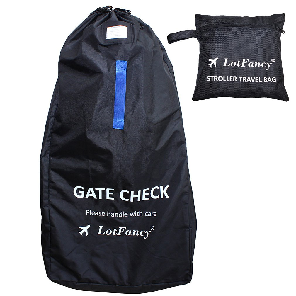 LotFancy Stroller Bag for Standard & Double Strollers, Ideal for Travel & Gate Check, Water-resistant (Size 47 x 23 x 14 inch)