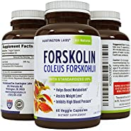 Coleus Forskholii - Pure premium Forskolin Root Extract Pills - Doctor Recommended Diet - Natural Herbal Weight Loss Fat Burner - Metabolism Booster for Men and Women - USA Made - Huntington Labs