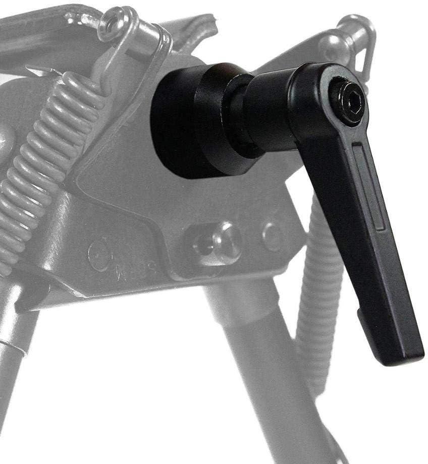 SHIYM-JJIA, Táctica Serie S Harris Bípode S-Lock trinquete pivote de la maneta de Bloqueo Monte Negro Bípode Adaptador for Pistola de Aire del Arma del Rifle Accesorios for Herramientas