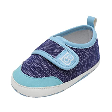 Zapatillas de bebé para niña, Amiley New Infant Baby Niñas Niños Lona de Velcro Calido