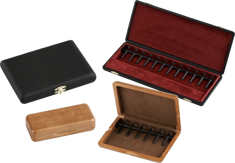 J. Winter Double Reed Cases Cherry Wood Bassoon - Holds 6
