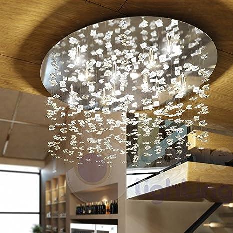 Lámpara de techo lámpara techo redonda Ø60 diseño moderno 8 luces ...
