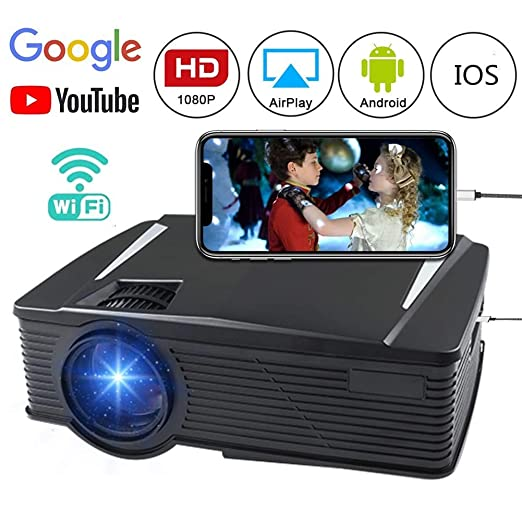 FASSTUREF Proyector portátil Full HD 1080P con HDMI/VGA/AV/USB/SD ...