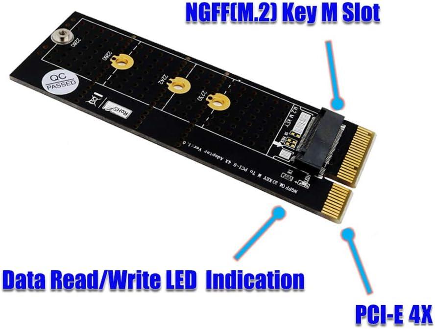 hudiemm0B M.2 SSD to PCI-E 4X Adapter Replacement PC Desktop NGFF M.2 nVME M Key SSD to PCI-E 4X Adapter Converter