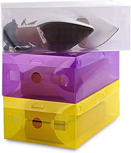 FANCYKIKI 33 * 21 * 12cm Caja De Zapatos De Concha For Hombre Caja De Almacenamiento De Plástico Plegable De Cristal Caja De Zapatos PP Transparente (Color : White): Amazon.es: Coche y moto