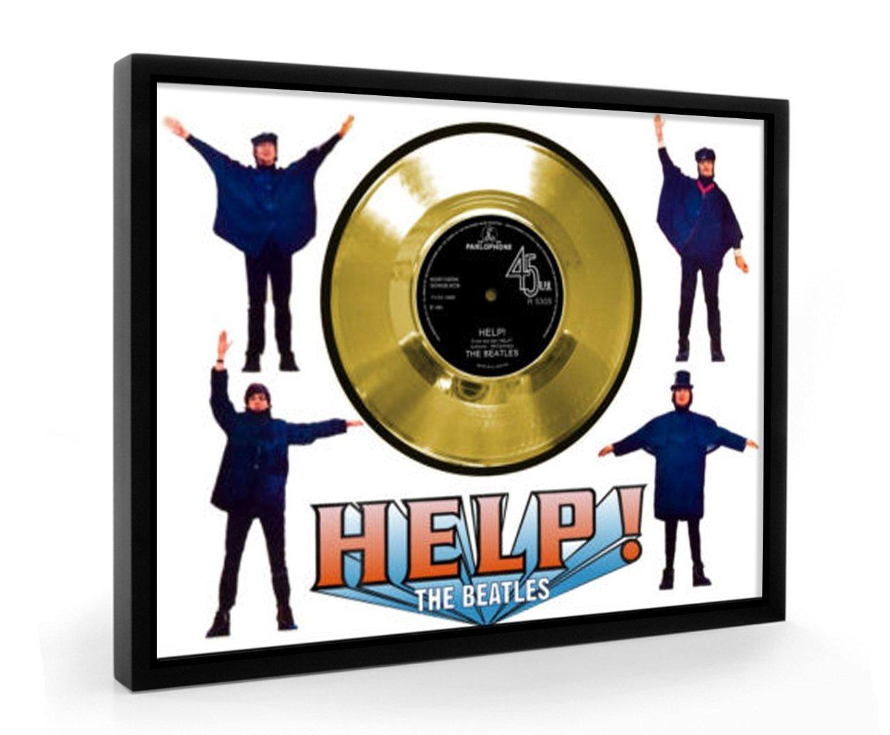 Beatles Help Framed Goldene Schallplatte Display Display Display Vinyl (C1) c51b4c