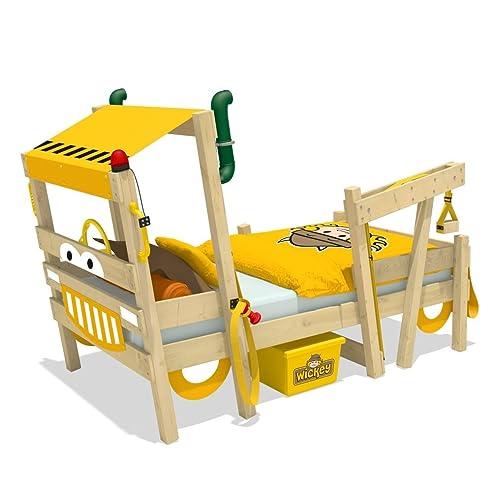 Kinderbett baggerbett  WICKEY Autobett CrAzY Sparky Max Kinderbett Bagger 90x200cm mit ...
