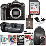 Pentax K-1 Mark II DSLR Camera (Body Only) with Pentax D-BG6 Battery Grip and 32GB SD Card Advanced Travel Kit
