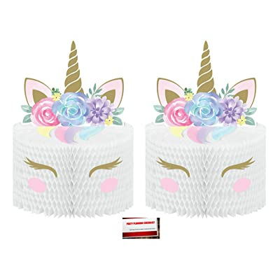 Unicorn Baby (2 Pack) Rainbow Sparkle Birthday Supplies Pop up Centerpiece (Plus Party Planning Checklist by Mikes Super Store): Toys & Games